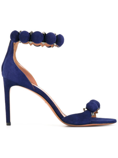 Alaia - Studded Suede Sandals - Blue