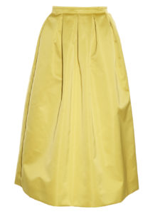 Rochas - Duchess-satin midi skirt - yellow