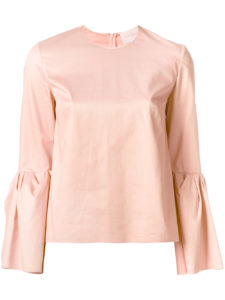 Roksanda peach pink peplum sleeve top