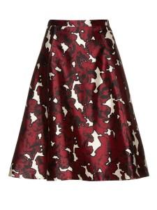 Oscar De La Renta - Floral-print silk-mikado skirt