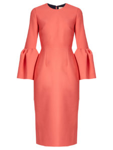 Roksanda - Margot Long Sleeve Crepe Dress - pink