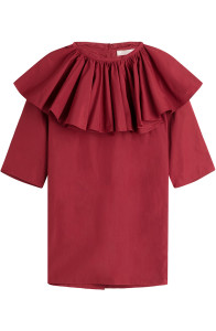 Nina Ricci - Red Blouse With Ruffles