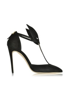 Olgana - Le Masque Black Suede and Satin Pump