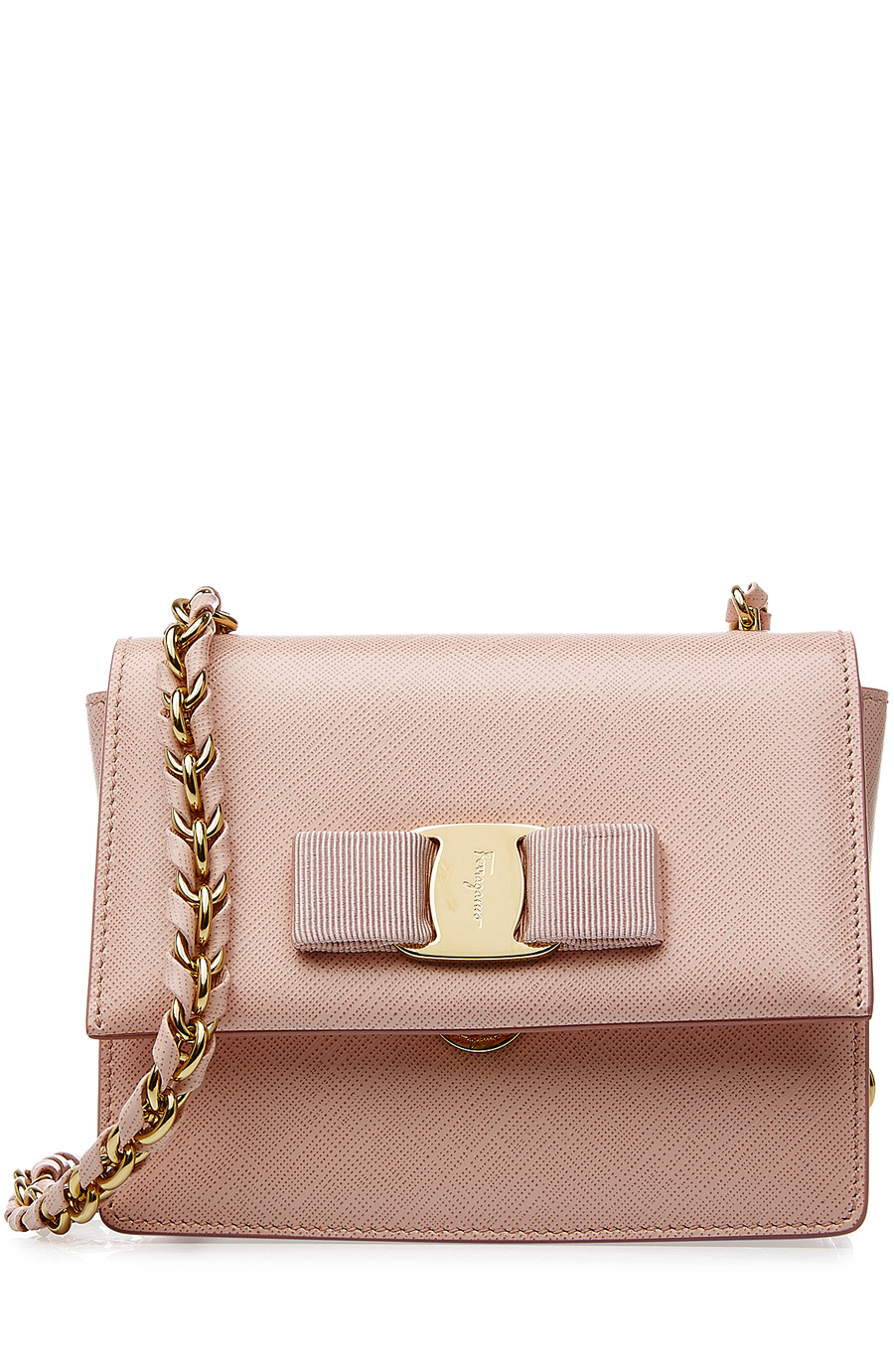 c0f5c80dfe Salvatore Ferragamo - Ginny Pink Leather Shoulder Bag