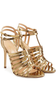 Sergio Rossi - Gold Metallic Leather Sandals