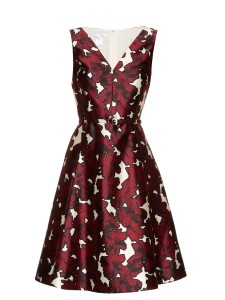 Oscar De La Renta - Floral-Print Silk-Twill Dress