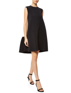 ROKSANDA Black Crepe Sleeveless Fuji Dress