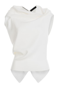 Roland Mouret - White Open Back Top