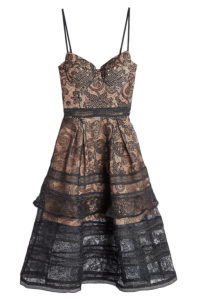 Self-Portrait - Black Lace Mini Dress