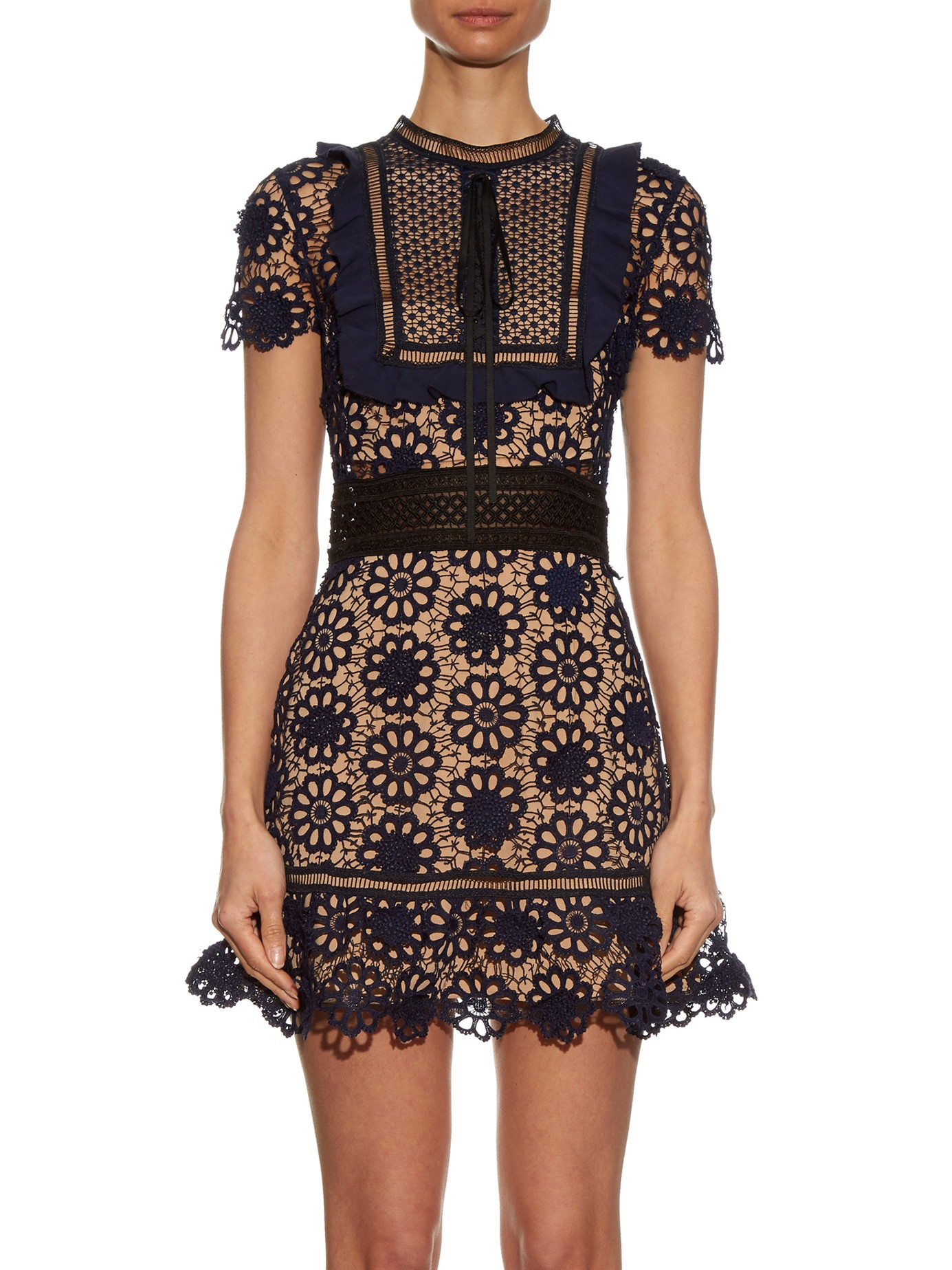 Self Portrait Louisa Guipure Lace Dress Fashion Style Fan