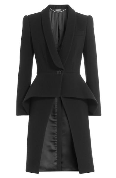 Alexander McQueen - Wool Coat with Peplum