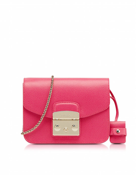 Furla – Metropolis Leather Mini Crossbody Bag, Pink