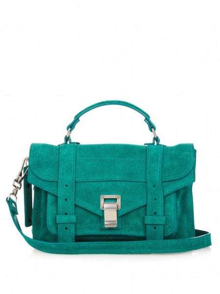 Proenza Schouler - PS1 Mini Suede Cross-Body Bag, Emerald-Green