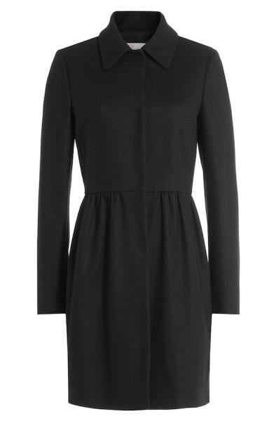 RED Valentino – Black Wool-Blend Coat