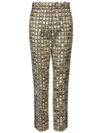 Racil - Gold Aries Jacquard Trousers