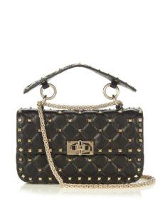 VALENTINO - Rockstud mini quilted leather cross-body bag