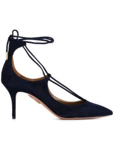 Aquazzura - Blue Suede Christy Pumps