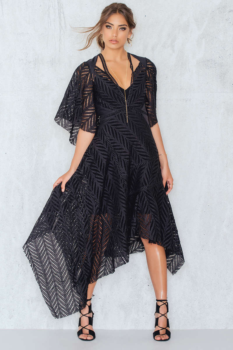 Acler Langford Dress Black Fashion Style Fan