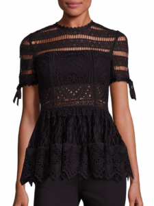 Alexis - Juliana Embroidered Top - Black