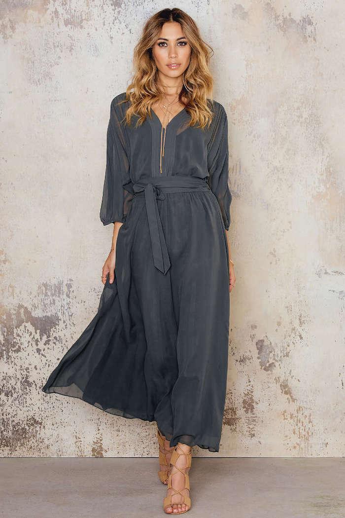 filippa k silk chiffon belt dress fashion style fan. Black Bedroom Furniture Sets. Home Design Ideas