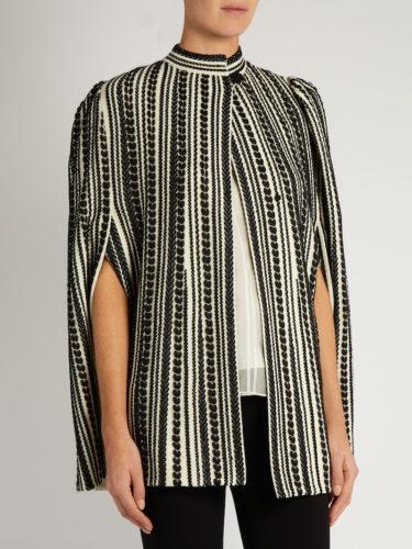 Alexander McQueen - Embroidered Wool-Blend Cape