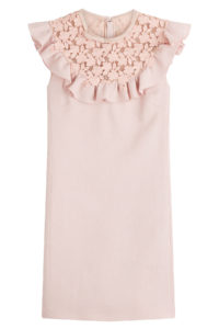 Giambattista Valli - Virgin Wool Dress with Cut-Out Pattern - Pink