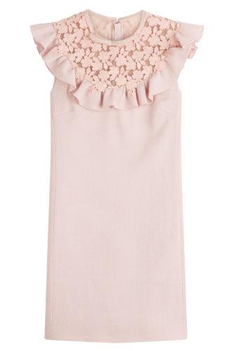 Giambattista Valli - Virgin Wool Dress with Cut-Out Pattern - Pink