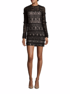 Parker - Long Sleeve Lace Dress - Black
