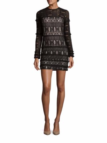 Parker - Long Sleeve Lace Dress - Black