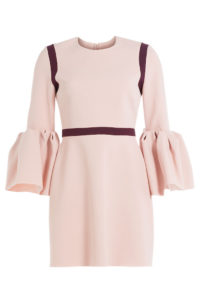 Roksanda - Crepe Dress with Ruffled Cuffs - Pink