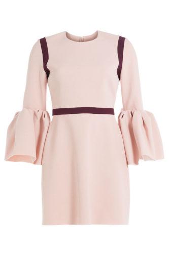 Roksanda - Crepe Dress with Ruffled Cuffs - Pink