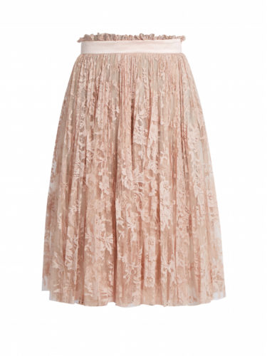 Alexander McQueen - Pleated Lace Skirt - Blush Pink