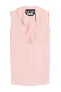 Boutique Moschino - Shell with Ruffled Collar - Pink