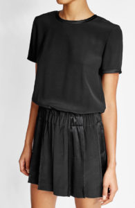 DKNY - Dress with Satin - Black