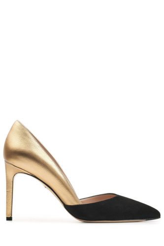 Diane Von Furstenberg - Metallic Leather and Suede Pumps
