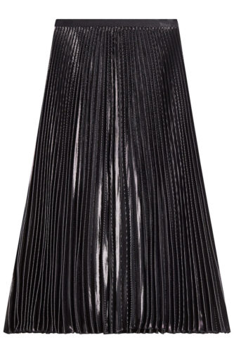 Diane Von Furstenberg - Pleated Skirt with Metallic Thread