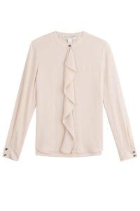 Diane Von Furstenberg - Silk Ruffle Front Blouse - Pink