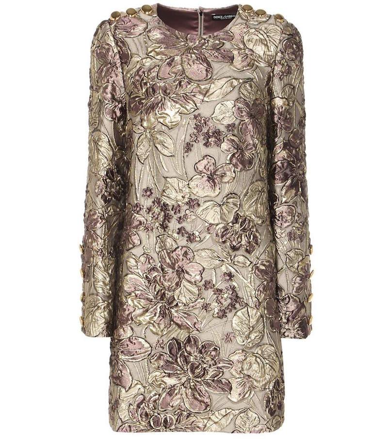Dolce Amp Gabbana Metallic Cloqu 233 Jacquard Dress Fashion