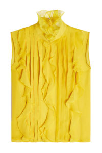 Giambattista Valli - Silk Chiffon Sleeveless Blouse - Yellow