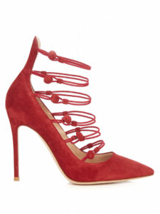 gianvito rossi marquis suede pumps red