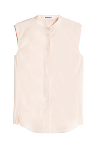 Jil Sander - Sleeveless Cotton Blouse