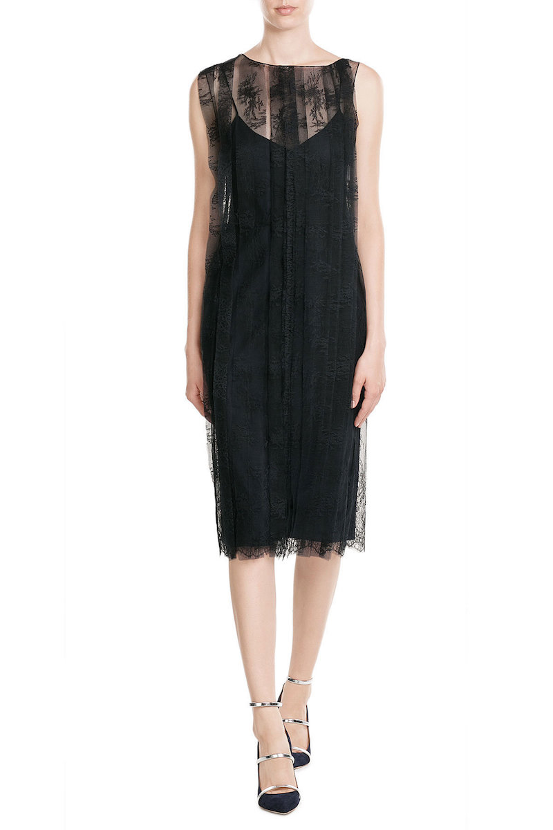 Nina Ricci Slip Dress With Lace Overlay Fashion Style Fan