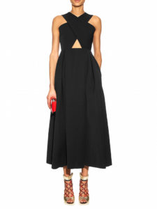 Preen By Thornton Bregazzi - Saunt Cut-out A-line Dress - Black