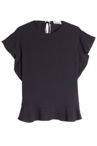 RED Valentino - Top with Self-Tie Detail - Black