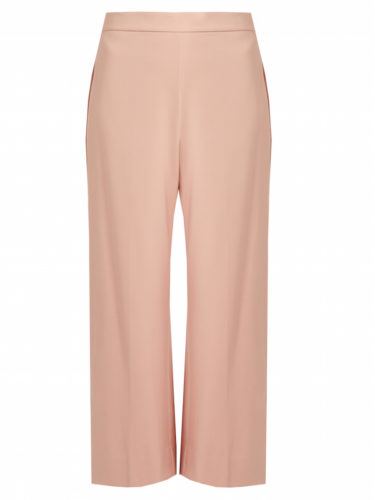 Rebecca Taylor - Wide-Leg Cropped Pants - Soft Pink