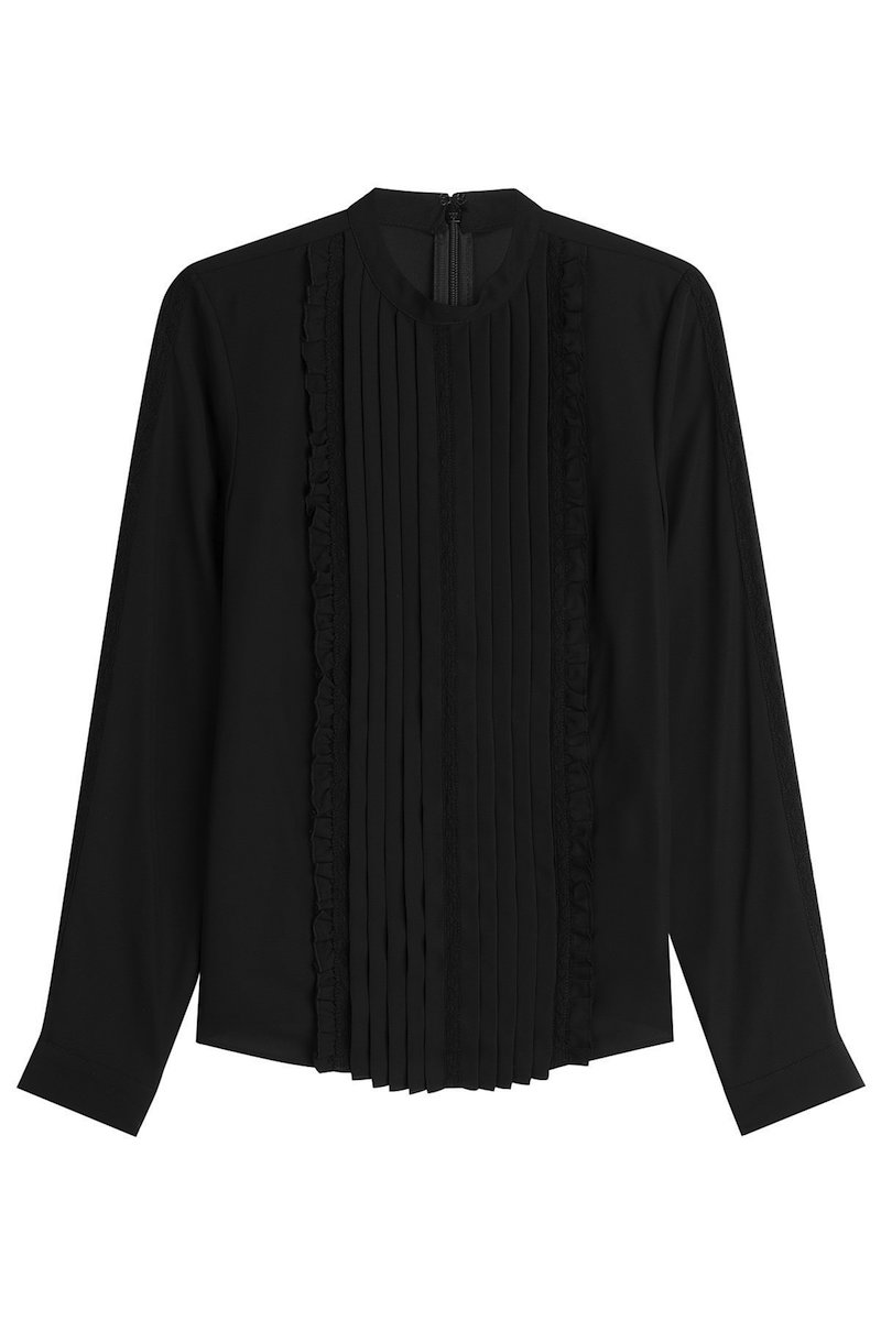 steffen schraut blouse with pleats fashion style fan. Black Bedroom Furniture Sets. Home Design Ideas