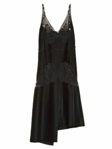 Stella McCartney - Lace and Pleated-Satin Dress - Black