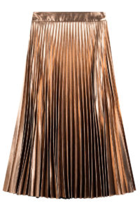 Tara Jarmon - Pleated Lamé Skirt