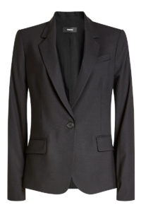 Theory - Virgin Wool Blazer - Black