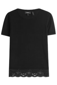 Theory - Wool Top with Lace - Black